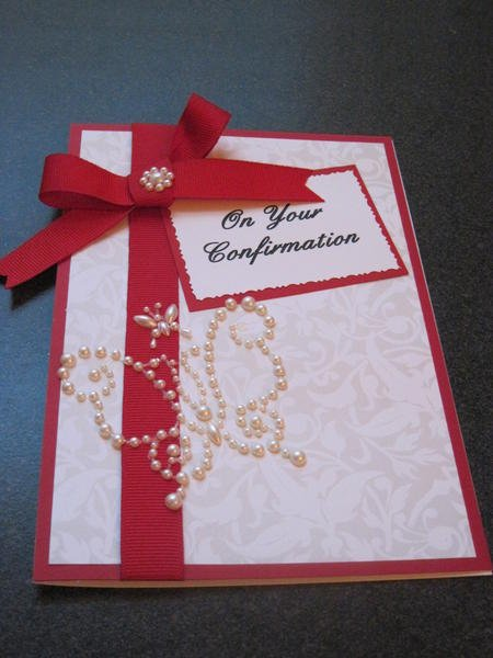 Confirmation Card for my Granddaughter