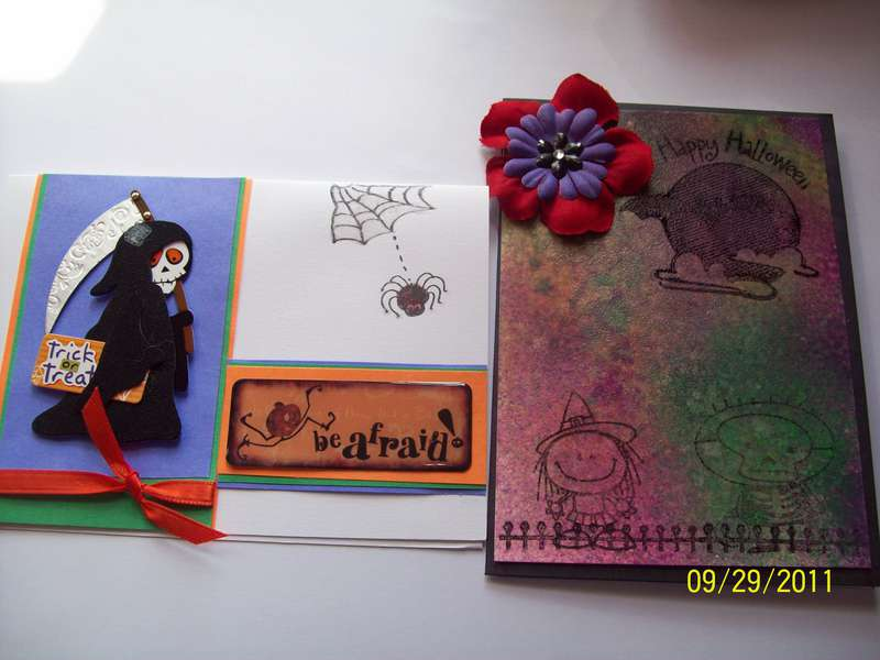 Handmade cards for goodie box