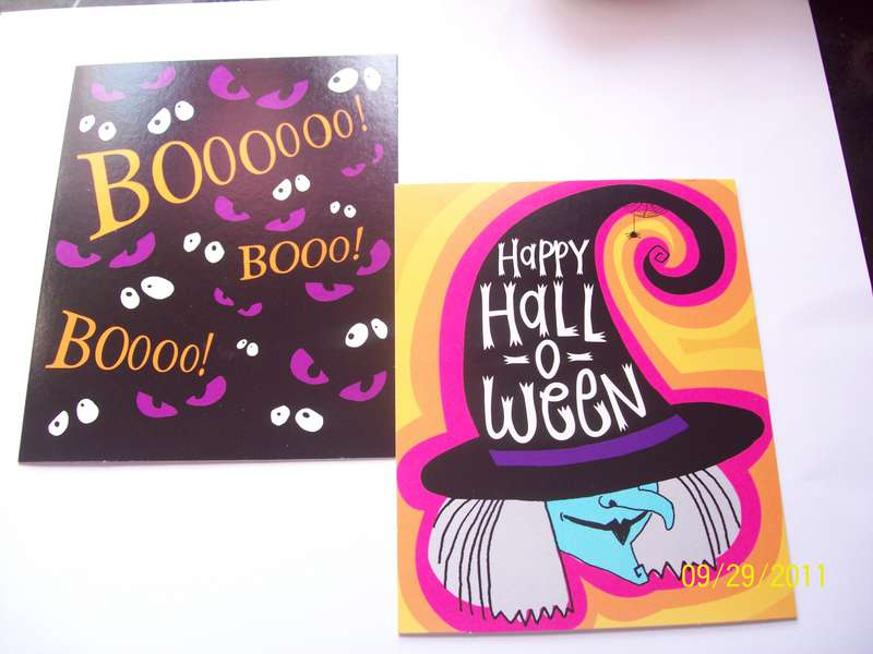 Store bought cards for goodie box