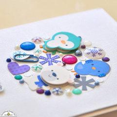 Frosty Friends - Snow Globe Embellishment Cluster