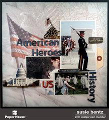 American Heroes layout