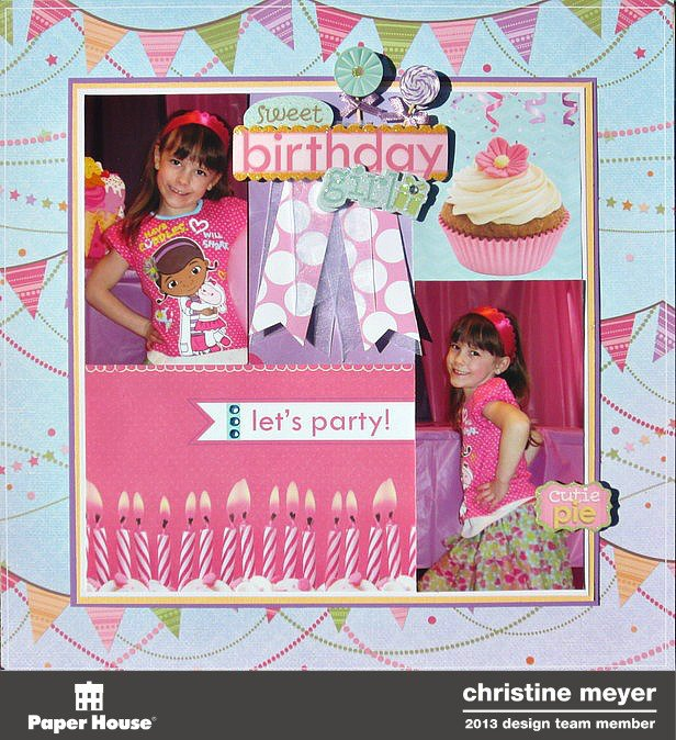 "Birthday Girl 12"" Layout"