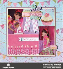 "Birthday Girl 12"" Layout"