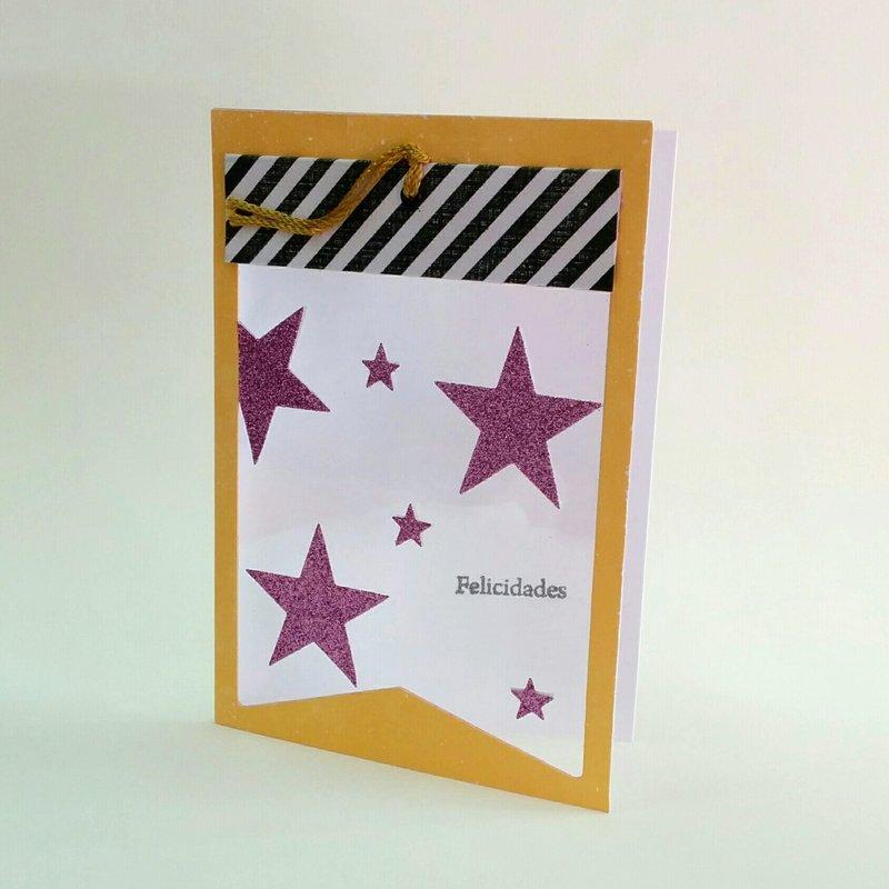 Window card with stars