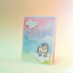 Flying Unicorn Card