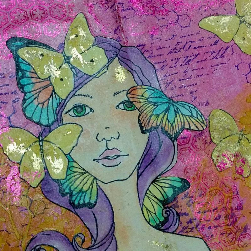 Spring Art Journaling page