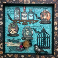Shadow box Steampunk Spells