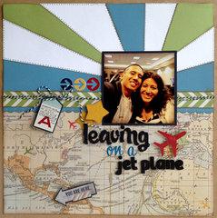 Leaving on Jet Plane Travel Layout