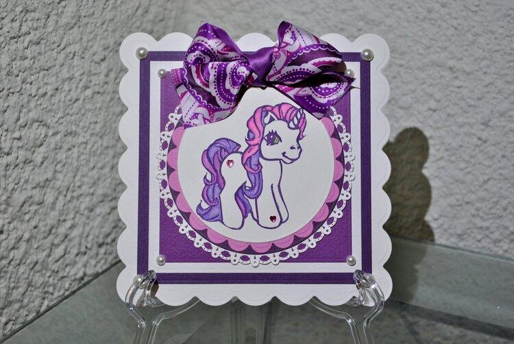 Sweetie Belle My Little Pony Card 1