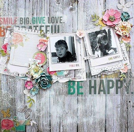 Be Happy **Petaloo & Simple Stories**