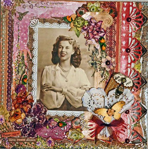 Mom 1945 **Scraps of Elegance** - August Round Robin