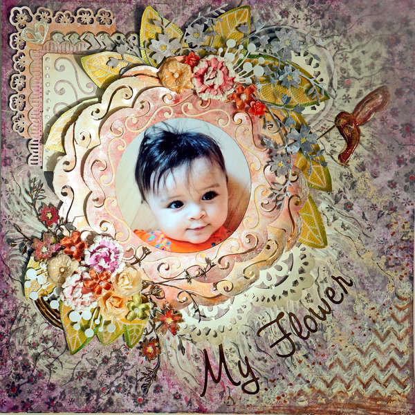 My Flower **Scraps of Darkness** Aug 2012 kit