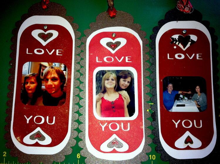 Valentine bookmark gift