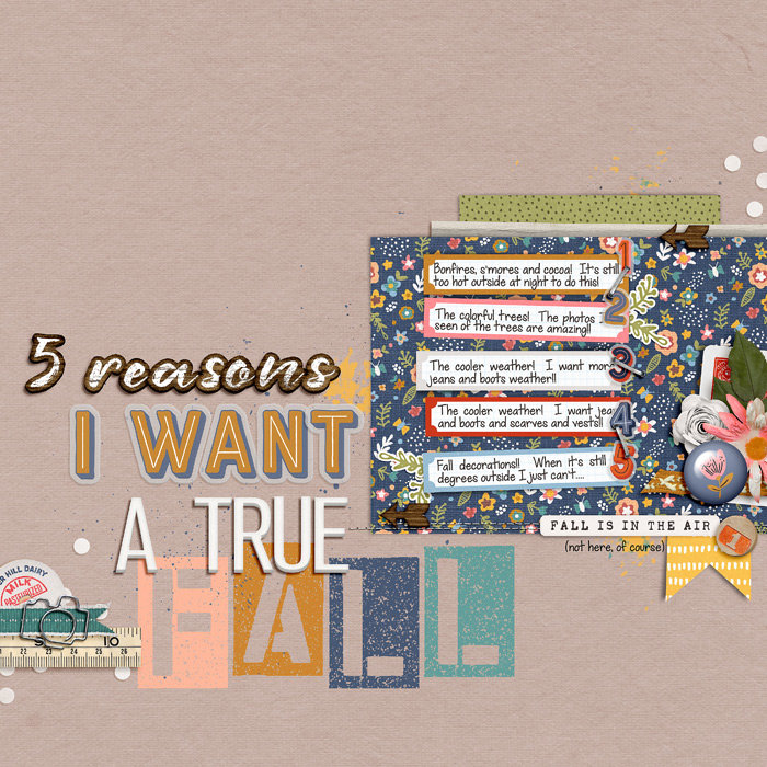 5 Reasons I Want a True Fall