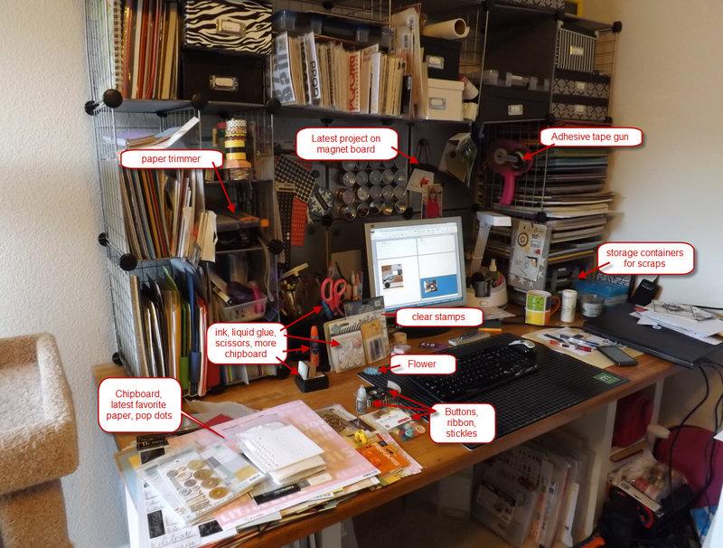 Scrap desk with callouts