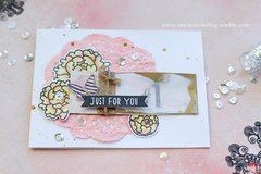 Spring Card with Colored Doily