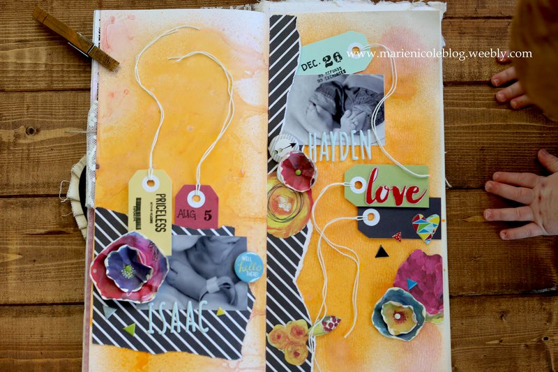 Mixed Media Layout | My Two Sons