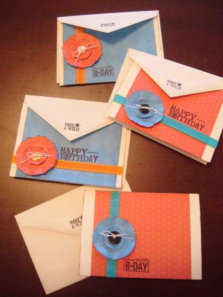 Set of 4 birthday cards