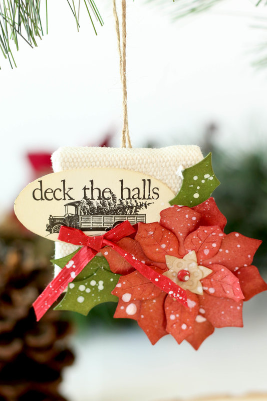 Mini Canvas Christmas Ornament