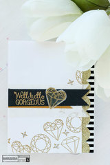 Embossed Diamonds Card