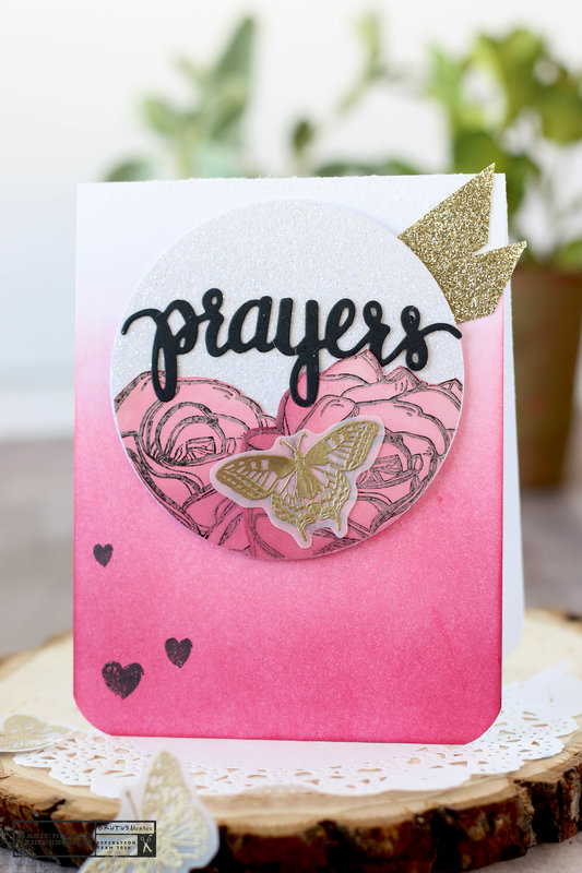 Prayers Floral Card