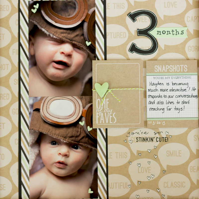3 Month Scrapbook Page!