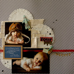 4 Month Scrapbook Page