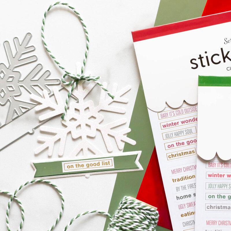 Snowflake Christmas Tags