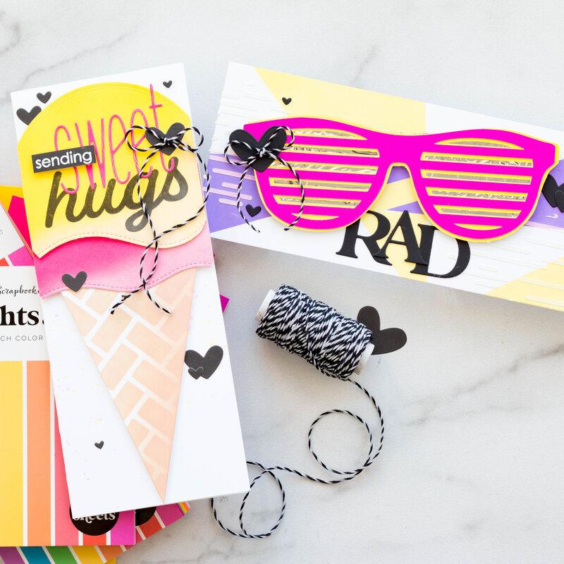 Bright Slimline Cards