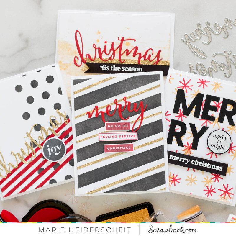 Modern and Bright Christmas Cards