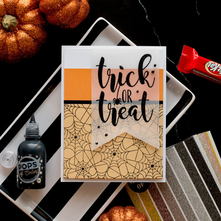 Trick or Treat Candy Corn Card