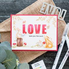 Watercolor Love Card