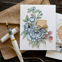 Journaling Card and Stenciled Background