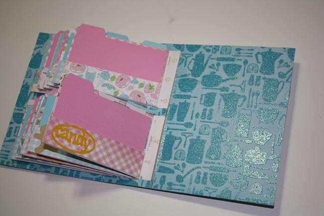 24 Pocket Recipe Album Back inside Cover
