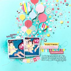 Balloons and Confetti Layout