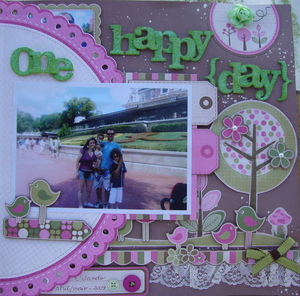 One happy {day} lots of memories - Page one, rim closed