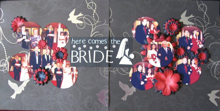 Here Comes the Bride 2 pg. layout