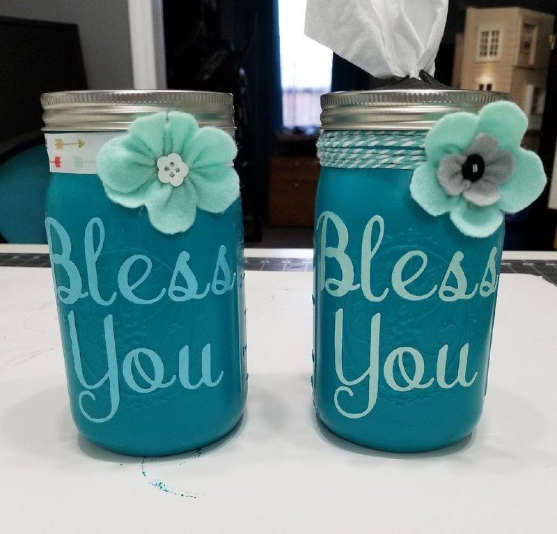 Tissue mason jars