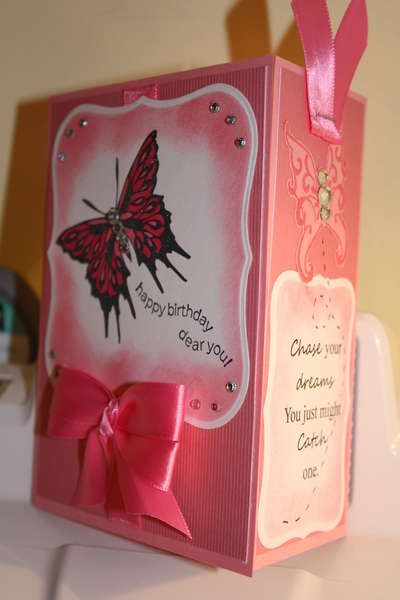 Butterfly Bookmark card