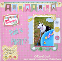Did Someone Say Pool Party Layout by Katrina Hunt
