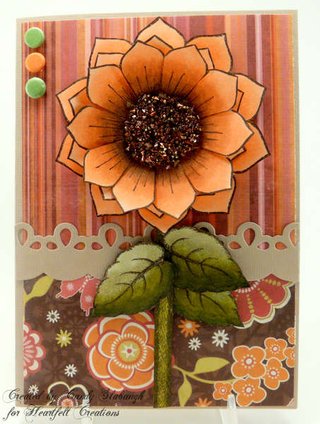 PEACH SUNFLOWER CARD