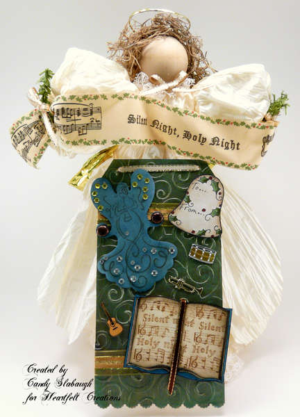 SILENT NIGHT ANGEL WITH TAG