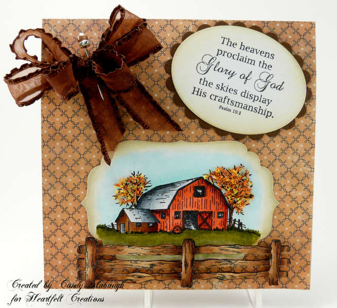 FALL BARN SCENE CARD