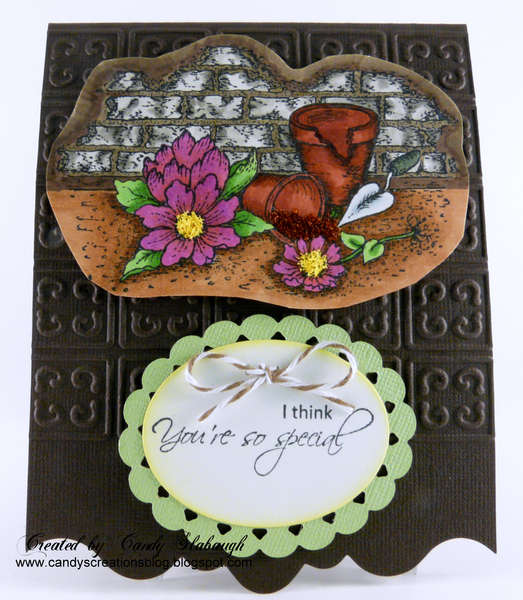 BROKEN FLOWER POT CARD