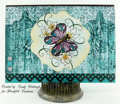 Butterfly and Lillies Card