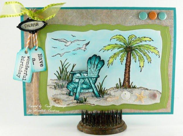 BEACH SCENE CARD