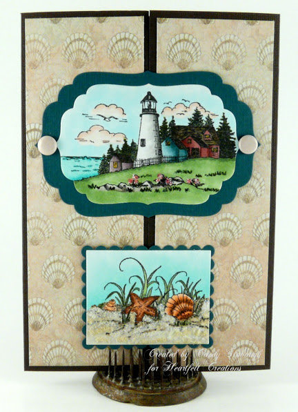 LIGHTHOUSE/SHELL GATEFOLD CARD