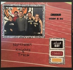 Track and Field Scrapbook Layout