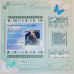 Pet Loss Scrapbook Layout