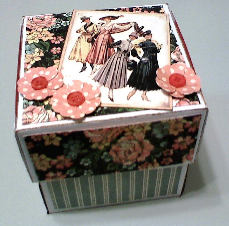 Victorian Explosion Box Card